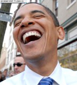 Obama laughs at the snowy hell he has unleashed